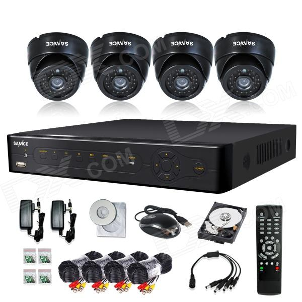 SANNCE P2P HDMI 8-Channel H.264 DVR + 4 x 600TVL Dome Cameras w/ 500GB HDD (For NTSC Country)
