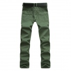 Men's Slim Stylish Casual Pants - Green (Size-32)
