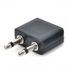 LSON 2 3.5mm Jack Male to 2.5mm Jack Female Audio Adapter - Black + Silver (5 PCS)