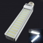 HZLED E27 13W 1600lm 6000K 65-SMD 2835 LED White Light Bulb - White + Silver (AC 85~265V)