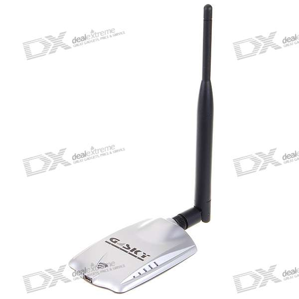 High Power Palm-size 802.11b/g WiFi USB Adapter with High Gain Antenna