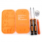 Jakemy JM-8120 Convenient 6-in-1 Dismantle Tool for IPHONE 5 - Orange + Black