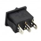 MaiTech 3-pin 3 Archivos Interruptores Rocker - Negro (5PCS)