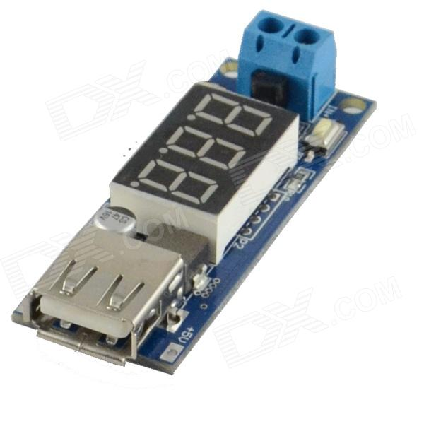 Two-wire Voltmeter + 5V USB Charger / Power Supply  Module - Deep Blue