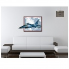 3D Plane Art Wall Decals Removable PVC Wall Stickers - White + Light Blue