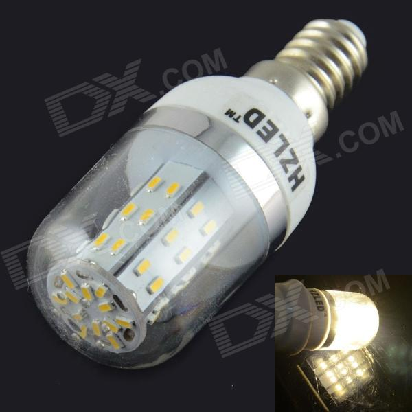 HZLED E14 4W 350LM 3000K 48 x 3014 SMD LED Warm White Corn Light - White (AC 85 ~ 265V) gc e14 3w 170lm 3000k 64 3014 smd led warm white light corn bulb ac 90 240v