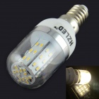 HZLED E14 4W 350LM 3000K 48 x 3014 SMD LED Warm White Corn Light - White (AC 85 ~ 265V)