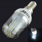 HZLED E14 4W 350LM 6000K 48 x 3014 SMD LED White Corn Light - White (AC 85 ~ 265V)