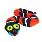 EasyCat Creative Forest Snake Dog Cat Toy w/ BB Sound Ball - Red + Black + White