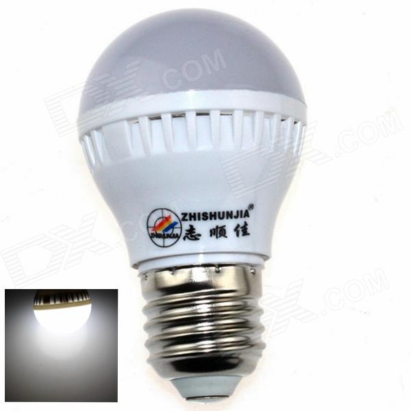 ZHISHUNJIA E27 3W 280lm 6000K 10 x SMD 2835 LED White Light Lamp Bulb - White (85~265V)