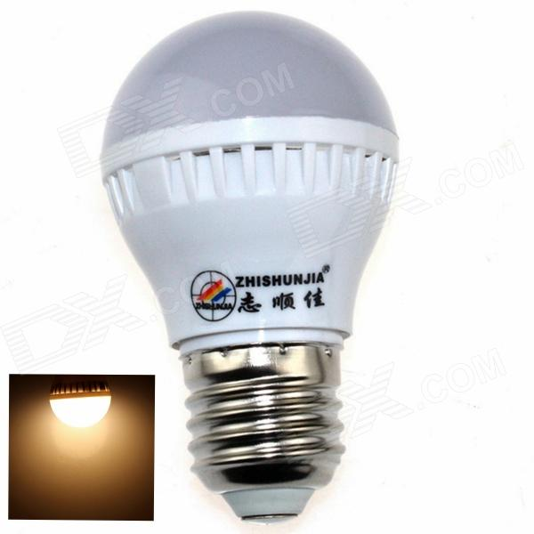 ZHISHUNJIA E27 3W 280lm 3000K 10 x SMD 2835 LED Warm White Light Bulb - White (85~265V)