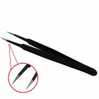 E-14 Quality Precise Hard Stainless Steel Anti-static Flat Tweezers - Black