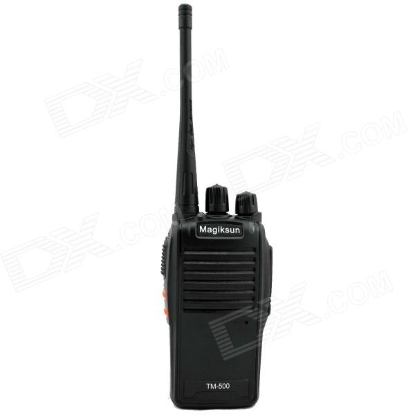 Magiksun TM-500 Handheld 5W  Walkie Talkie / Interphone - Black + White