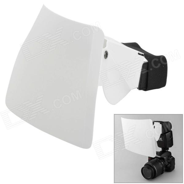 uvinKa flash Speedlight Clip-on Strobe Difusor de 2 vías para D-SLR - Blanco + Negro (Talla L)