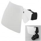 uvinKa Flash Speedlight Clip-on Strobe Diffuser 2-way for D-SLR - White + Black (Size L)