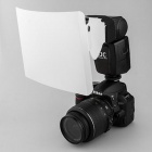 uvinKa flash Speedlight Clip-on Strobe Difusor 2-way para D-SLR-White + Black (Tamanho L)