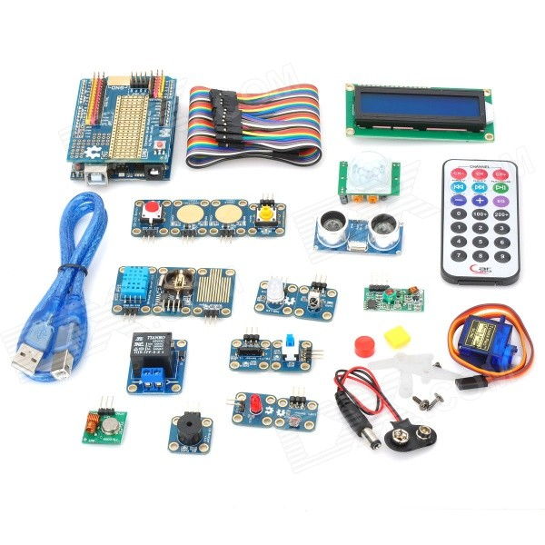 купить Maker Studio AK0000320M Electronic Bricks Study Kit for Arduino UNO R3 - Multicolored недорого