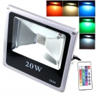 ZHISHUNJIA IP66 20W 1800lm LED 7-Color Project Light w/ Remote Controller - Gray (85~265V)