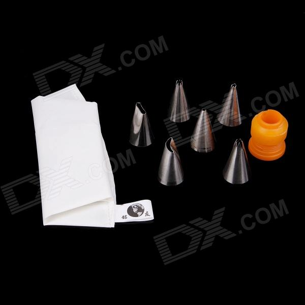 Cake Puff Decorating Icing Nozzles Sugarcraft Pastry Tips Tool Set w/ Pastry Bag / Nozzles Converter