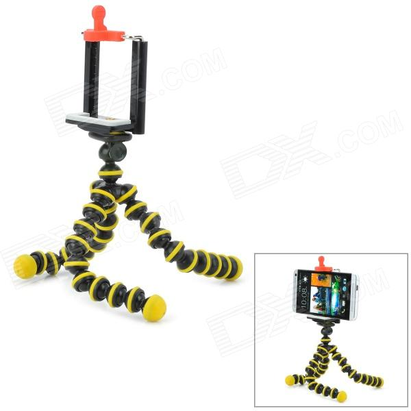 mini-camera-mobile-phone-tripod-w-clip-black-yellow-multi-colored