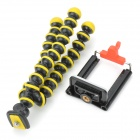 Mini Camera Mobile Phone Tripod w/ Clip - Black + Yellow + Multi-Colored