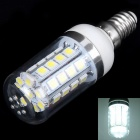 E14 4W 245lm 6000K 36 x SMD 5050 LED White Light Corn Lamp w/ Transparent Cover - (85~265V)