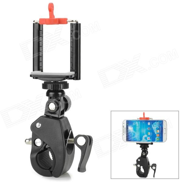 "Portable Plastic + Metal 1/4"" Holder for Cellphone / Bike Camera - Black + Red"