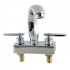 Double Vanities Modern Rotatable Dual Control Hot / Cold Faucet - Silver