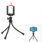 "Convenient Portable 1/4"" Selfie Tripod for Cellphone - Black + Red"