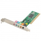 3.5mm PCI 5.1-CH Desktop Sound Card Support Karaoke - Green + Multicolored