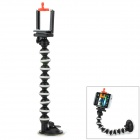 Suction Cup Mount Holder Monopod w/ Clip for Camera Mobile Phone - Black