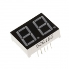 "5261BG 1.3"" 2bit Common Anode Green LED Digital 7-Segment Display - Black + White (5PCS)"