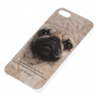 C100006 Animal Series Cute Pug Style Protective Plastic Back Case for IPHONE 5 / 5S - Brown + Black
