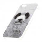 C100003 Série animale Cute Panda Style Housse de protection en plastique pour IPHONE 5 / 5S - Blanc