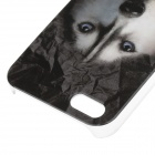 C300005 Animal Series Siberian Husky Style Protective Plastic Back Case for IPHONE 5 / 5S - Black