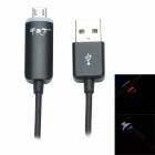 JTX JTX-02 USB to V8 LED Data Transmission / Charging Cable - Black (100cm)