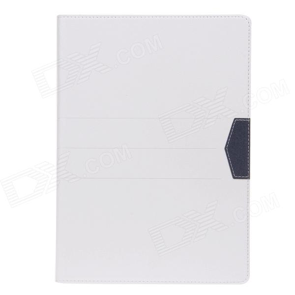 Stylish Protective PU Leather Case Cover Stand w/ Card Slots for IPAD AIR - White
