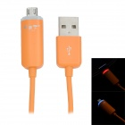 JTX JTX-02 USB to V8 LED Data Transmission / Charging Cable - Orange (100cm)