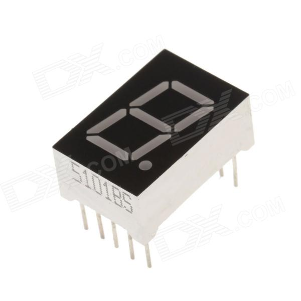"5101BS 1.8"" 1-bit Common Anode Red LED Seven-segment Digital Display Module - Black + White (5 PCS)"
