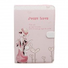 Cute Series Protective PU Leather Case Cover Stand w/ Auto Sleep for IPAD AIR - Pink