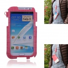 Newtop Soft-Touch Protective PU Leather Case w/ Strap for SAMSUNG Note 2 N7100 - Pink