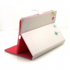 Cute Series Protective PU Leather Case Cover Stand w/ Auto Sleep for IPAD AIR - Pink + Green