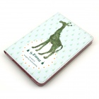 Cute Giraffe Pattern Protective PU Leather Case Cover Stand w/ Auto Sleep for IPAD AIR - Green