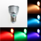 Zweihnde RGBXL08 E27 3W 180lm RGB Light LED Spotlight w/ Remote Control - Silver (85~265V)