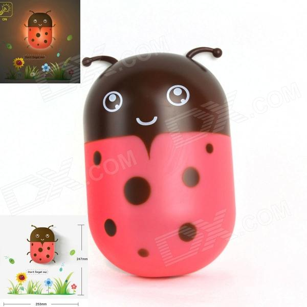 Ladybug Decoration 2W 200lm LED Warm White Energy Saving Light Sensing Wall Lamp - Red + Brown