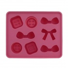 Cute Bow Tie Silicone Ice Mold Ice Maker Mold - Deep Pink