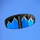 Qunlon Flame 4-Line Power Kite 2-sqm - Black + White + Blue