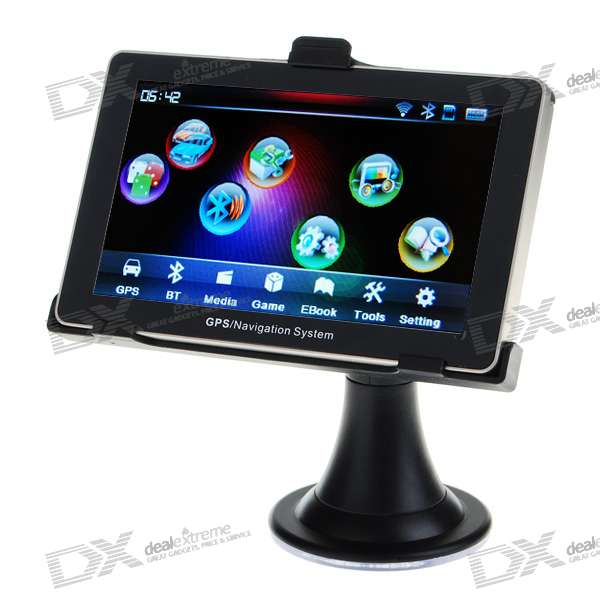 "5.3"" LCD 396MHz Windows CE .NET 5.0 Core Bluetooth + GPS Navigator w/FM Transmitter (2GB/Maps)"