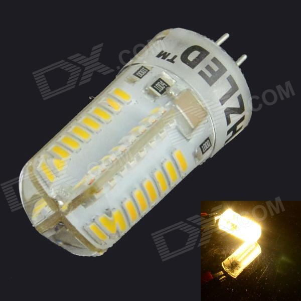 HZLED G4 3W 448lm 3000K 64 x SMD 3014 LED Warm White Light Lamp - White (220V) gc e14 3w 170lm 3000k 64 3014 smd led warm white light corn bulb ac 90 240v page 2