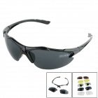 OUMILY Outdoor Cycling Sunglasses Goggles Replaceable lens Kit - Black